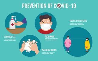 preventie van covid-19 concept vector