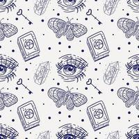 magisch naadloos patroon vector