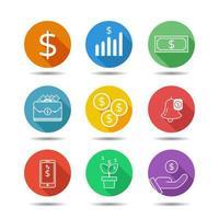 geld platte pictogram vector