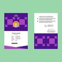 paarse vierkante vormidentiteitskaart