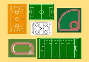 Sportvelden vector
