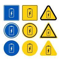 acculader teken set