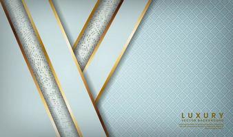 blauw patroon met schuine goud gevoerde lagen vector