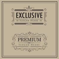 vintage luxe logo sjabloon set vector
