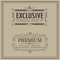 vintage luxe logo sjabloon set