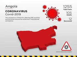 Angola getroffen landkaart van de verspreiding van het coronavirus