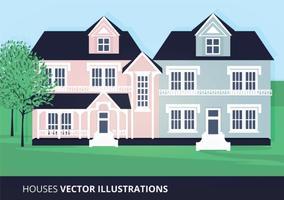 Huizen Vectorillustratie vector