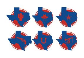 Texas Map Vectoren