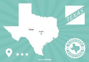 Texas Kaart Illustratie vector