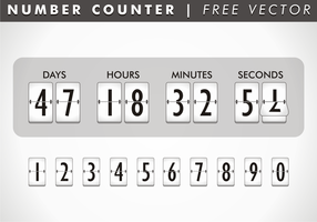 Nummerteller Gratis Vector