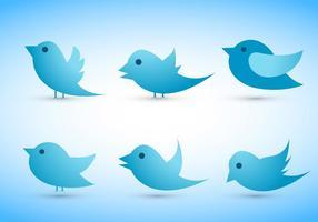 Twitter vogel vectoren set