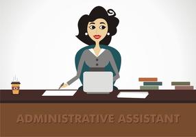 Administratieve Assistent Gratis Vector