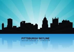 Pittsburgh skyline vector