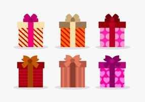 Set vectir geschenkdozen vector