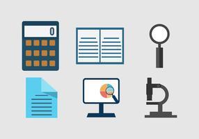 Marktonderzoek bedrijf iconen vector