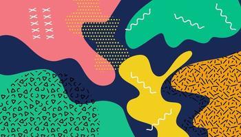 abstracte kleurrijke memphis achtergrond