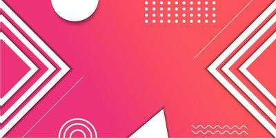 roze en oranje verloop geometrische banner vector