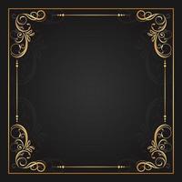 goud bloeit in vier hoeken van vierkant frame
