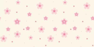 patroon met roze bloemen op lichte achtergrond vector