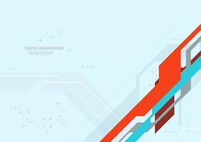 digitale technologie oranje en blauw ontwerp