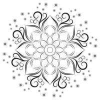 mandala bloem met krul details vector