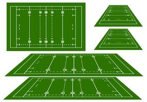 Rugby arena vectoren