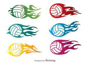 Volleybal In Vlamvectoren vector