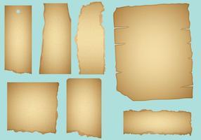 Gebrande papiervectoren vector