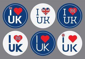 Ik hou van Britse Vector