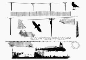 Stedelijke draadvectoren vector