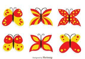 Vlinder collectie set vector