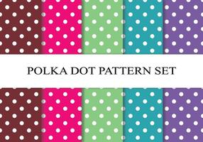 Kleurrijke Polka Dot Pattern Set vector