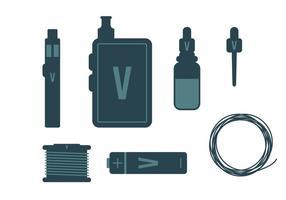 Vape vector items