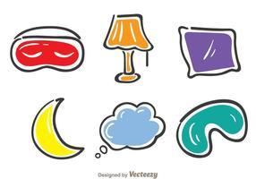 Slaap Kleurrijke Pictogrammen