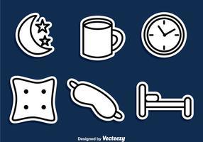 Sleep-overzicht pictogrammen vector