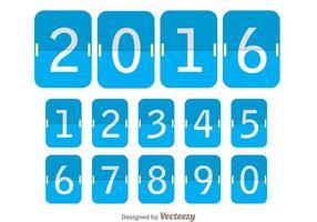 Blauwe flipboard nummerteller