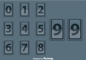 Mechanische Scorebord Vector