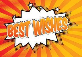 Comic Style Best Wishes Illustratie vector