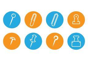 Office Supply Icon overzicht vector
