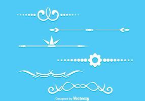 Pagina decoratie vector