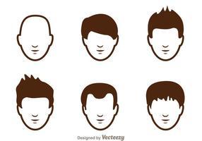 Haarstijl Man Pictogrammen vector