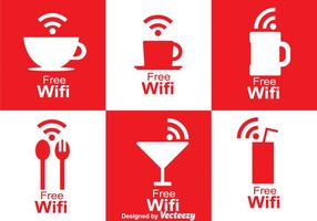 Cafe Wifi-symbool vector
