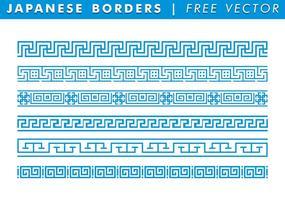 Japanse Borders Gratis Vector