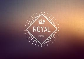 Gratis Vintage Crown Logo Vector
