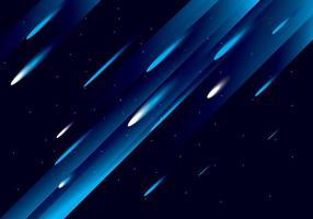 Meteor shower vector