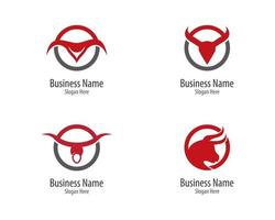 stier logo zakenkring sjabloon vector
