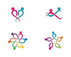 gemeenschap mensen logo sjabloon set