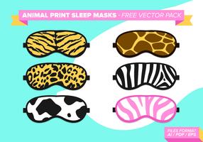 Animal Print Sleep Maskers Gratis Vector Pack