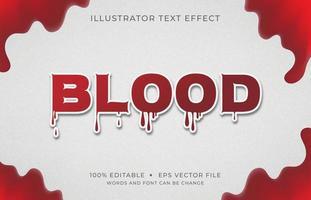 bloed lettertype teksteffect vector