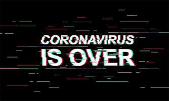 coronavirus is voorbij lichte banner